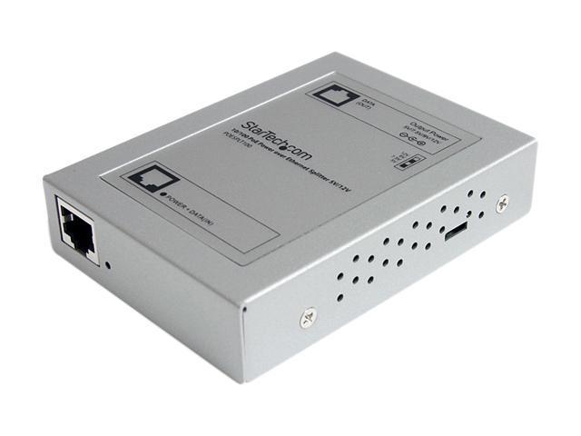 StarTech POESPLT100 10/100 PoE Power over Ethernet Splitter 5V/12V