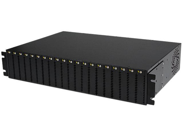 StarTech ETCHS2U 20-Slot 2U Rack Mount Media Converter Chassis for ET Series 2 Fiber Media Converter