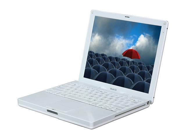 Apple Laptop iBook G4 PowerPC G4 1.33 GHz 1 GB Memory 40 GB HDD ATI Mobility Radeon 9550 12.1