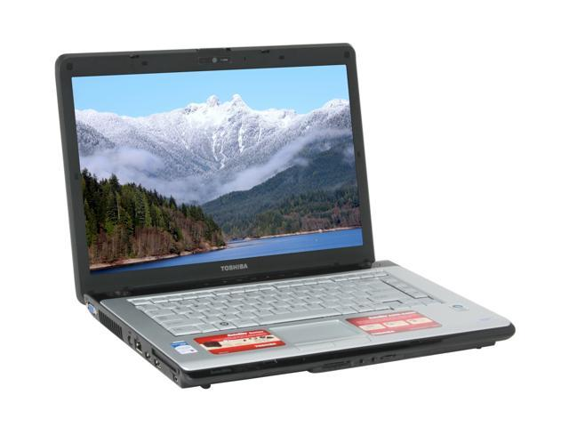 TOSHIBA Laptop Satellite A205-S4607 Intel Core 2 Duo T5300 (1.73 GHz) 2 GB Memory 200 GB HDD Intel GMA950 15.4