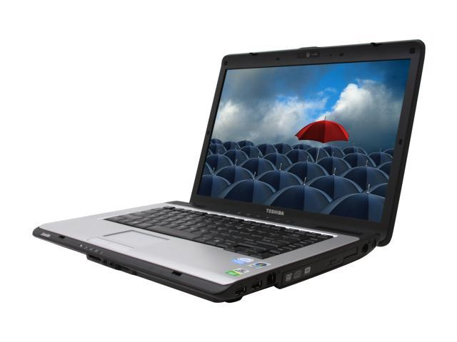 TOSHIBA Laptop Satellite A205-S5871 Intel Pentium dual-core T2390 (1.86 GHz) 2 GB Memory 160 GB HDD Intel GMA X3100 15.4