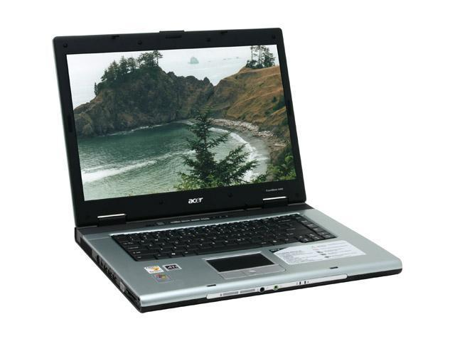 Acer Laptop TravelMate TM4402WLMi AMD Turion 64 ML-30 (1.60 GHz) 512 MB Memory 100 GB HDD ATI Mobility Radeon X700 15.4