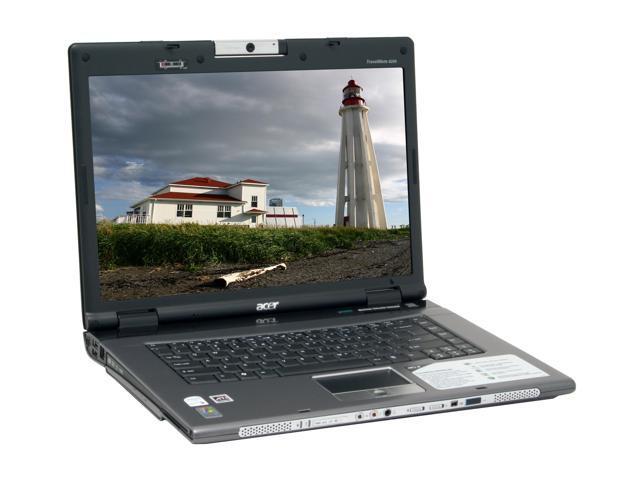Acer Laptop TravelMate 8200 TM8204WLMi Intel Core Duo T2500 (2.00 GHz) 2 GB Memory 120 GB HDD ATI Mobility Radeon X1600 15.4