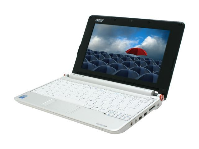 "Acer Aspire One AOA110-1295 Seashell White 8.9"" WSVGA Netbook"