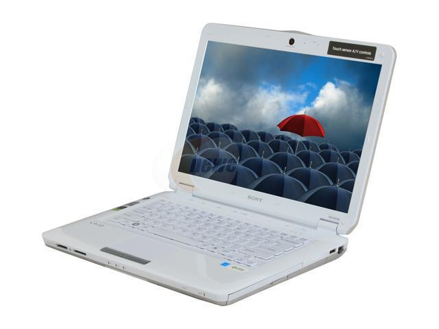 SONY Laptop VAIO CS Series VGN-CS110E/W Intel Core 2 Duo T5800 (2.00 GHz) 3 GB Memory 250 GB HDD Intel GMA 4500MHD 14.1