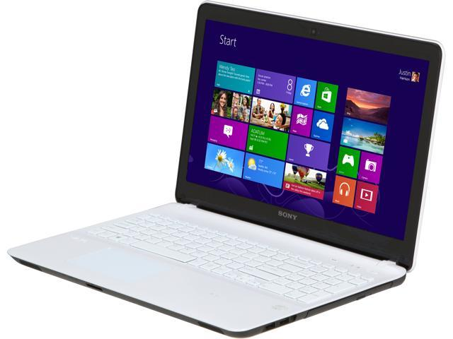 SONY Laptop VAIO F Series SVF1521ECXW Intel Core i7 3537U (2.00 GHz) 4 GB Memory 500 GB HDD NVIDIA GeForce GT 740M 15.5