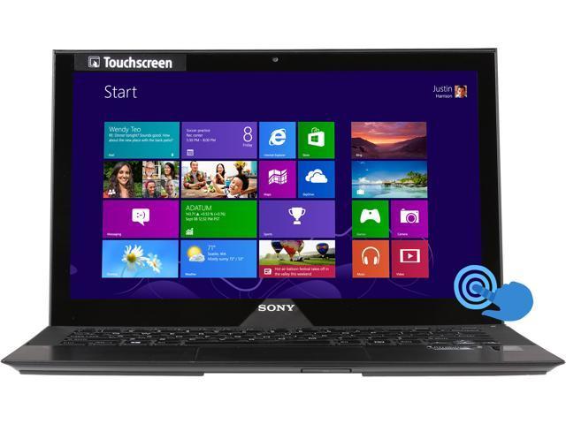 "SONY VAIO P Series SVP11216PXB Intel Core i7 8 GB Memory 256 GB SSD 11.6"" Touchscreen Ultrabook Windows 8 Pro 64-Bit"