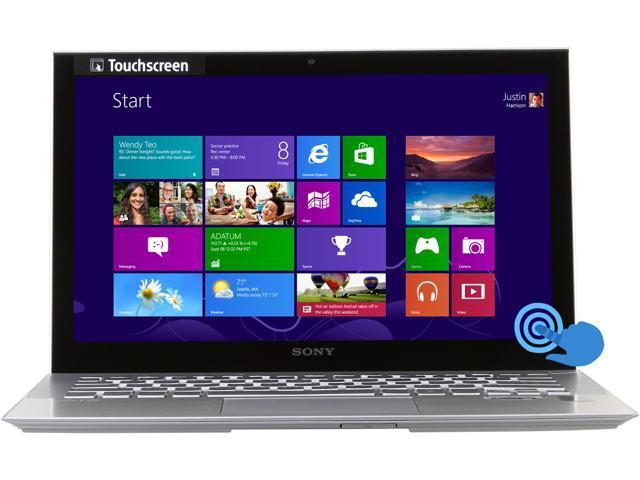 "SONY VAIO P Series SVP11216PXS Intel Core i7 8 GB Memory 256 GB SSD 11.6"" Touchscreen Ultrabook Windows 8 Pro 64-Bit"
