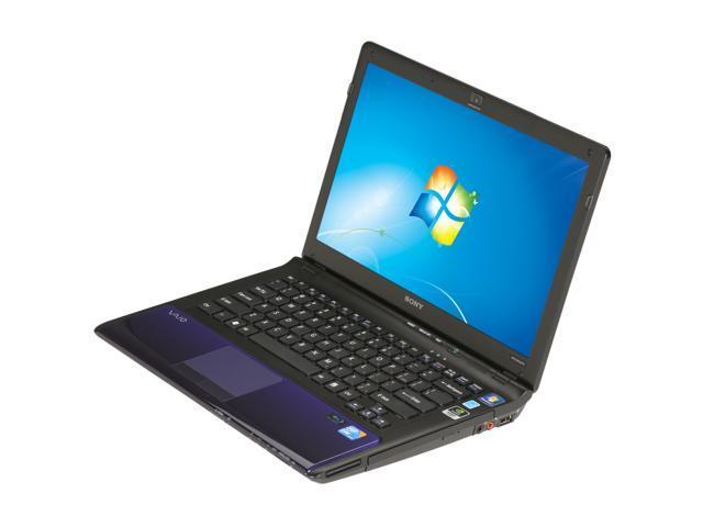 "SONY Laptop VAIO CW Series VPCCW23FX/L Intel Core i3 330M (2.13 GHz) 4 GB Memory 500 GB HDD NVIDIA GeForce 310M 14.0"" Windows ..."