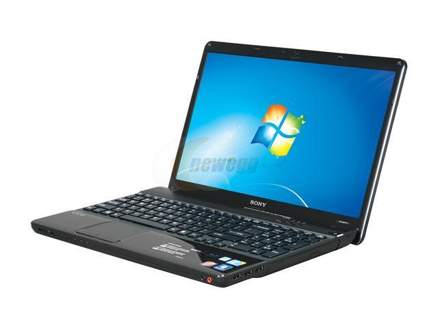 SONY Laptop VAIO E Series VPCEB27FX/B Intel Core i5 430M (2.26 GHz) 4 GB Memory 500 GB HDD ATI Mobility Radeon HD 5470 15.5