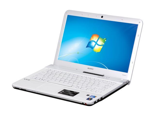 "SONY Laptop VAIO EA Series VPCEA43FX/WI Intel Core i3 380M (2.53 GHz) 4 GB Memory 320 GB HDD Intel HD Graphics 14.0"" Windows ..."