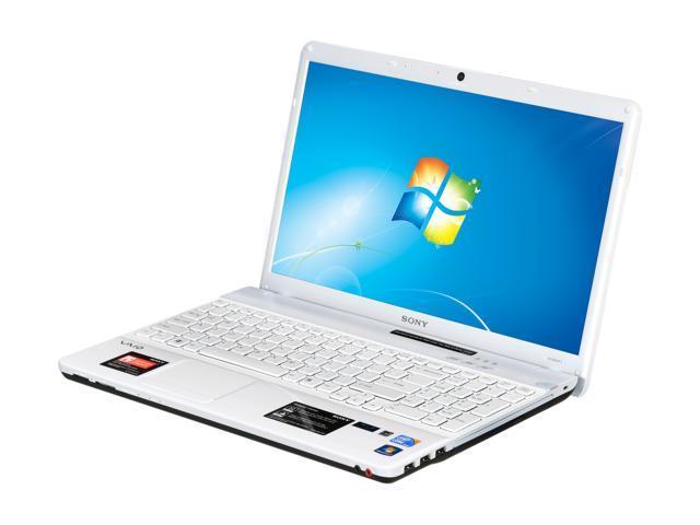"SONY Laptop VAIO EB Series VPCEB45FX/WI Intel Core i3 380M (2.53 GHz) 4 GB Memory 640GB HDD Intel HD Graphics 15.5"" Windows ..."