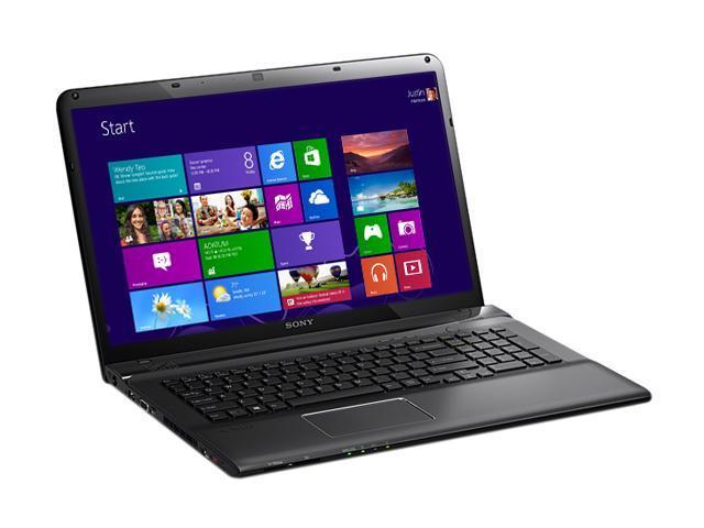 "SONY Laptop VAIO E Series SVE1712BCXB Intel Core i5 3210M (2.50 GHz) 6 GB Memory 500 GB HDD AMD Radeon HD 7550M 17.3"" Windows ..."