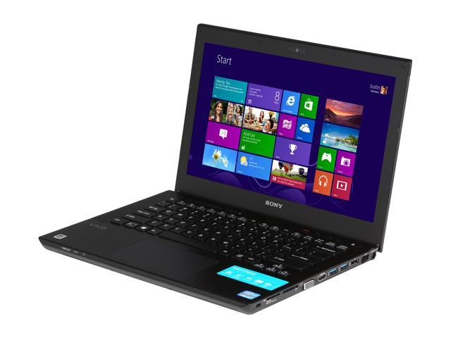 SONY Laptop VAIO S Series SVS13127PXB Intel Core i7 3520M (2.90 GHz) 8 GB Memory 750 GB HDD NVIDIA GeForce GT 640M LE 13.3
