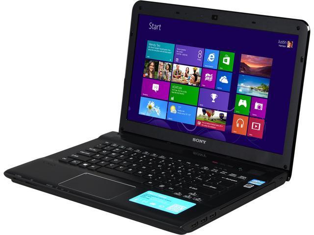SONY Laptop VAIO E Series SVE14132CXB Intel Core i3 3120M (2.50 GHz) 4 GB Memory 500 GB HDD Intel HD Graphics 4000 14.0