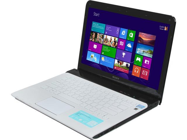 SONY Laptop VAIO E Series SVE14132CXW Intel Core i3 3120M (2.50 GHz) 4 GB Memory 500 GB HDD Intel HD Graphics 4000 14.0