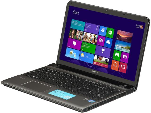 SONY Laptop VAIO E Series SVE15134CXS Intel Core i3 3120M (2.50 GHz) 6 GB Memory 750 GB HDD Intel HD Graphics 4000 15.5