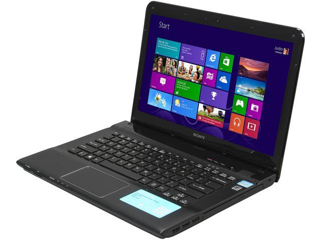 SONY Laptop VAIO E Series SVE1413RCXB Intel Core i5 3rd Gen 3230M (2.60 GHz) 4 GB Memory 500 GB HDD AMD Radeon HD 7550M 14.0
