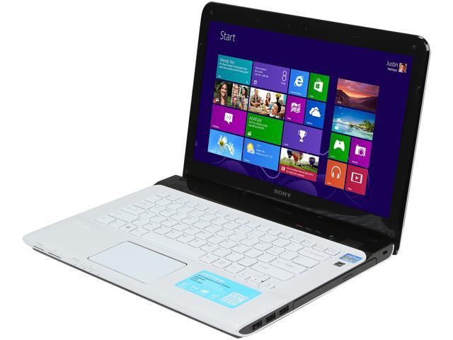 SONY Laptop VAIO E Series SVE1413RCXW Intel Core i5 3rd Gen 3230M (2.60 GHz) 4 GB Memory 500 GB HDD AMD Radeon HD 7550M 14.0