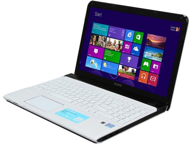SONY Laptop VAIO E Series SVE1513MCXW Intel Core i5 3230M (2.60 GHz) 4 GB Memory 500 GB HDD Intel HD Graphics 4000 15.5