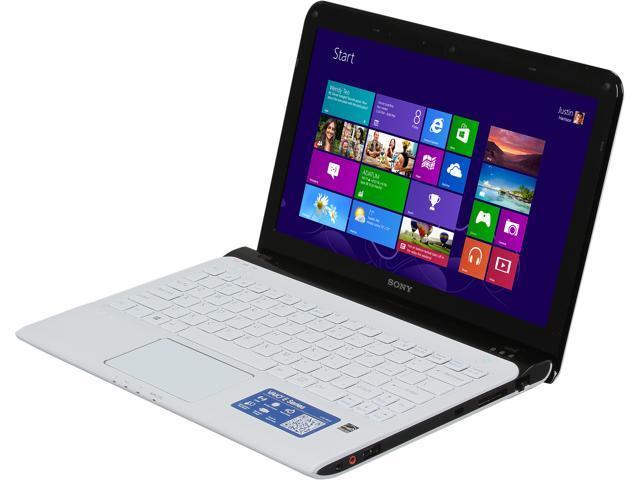SONY Laptop VAIO E Series SVE11125CXW AMD Dual-Core Processor E2-1800 (1.7 GHz) 4 GB Memory 750 GB HDD AMD Radeon HD 7340 11.6