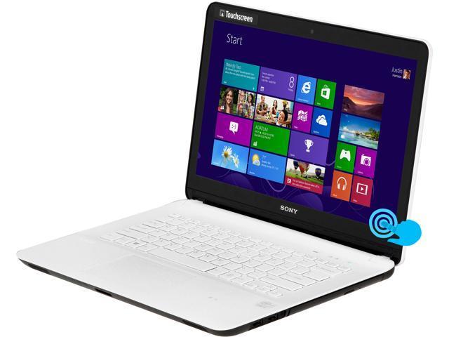 "SONY Laptop VAIO F Series SVF14213CXW Intel Core i3 3227U (1.90 GHz) 4 GB Memory 500 GB HDD Intel HD Graphics 4000 14.0"" ..."