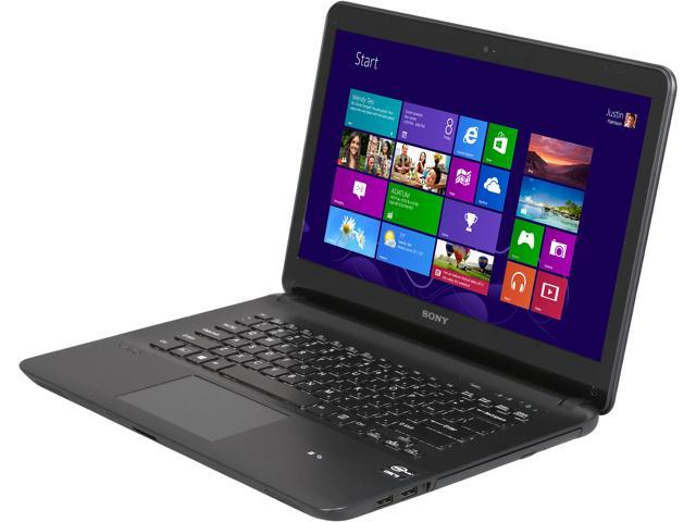 SONY Laptop VAIO F Series SVF14214CXB Intel Core i5 3337U (1.80 GHz) 6 GB Memory 750 GB HDD Intel HD Graphics 4000 14.0