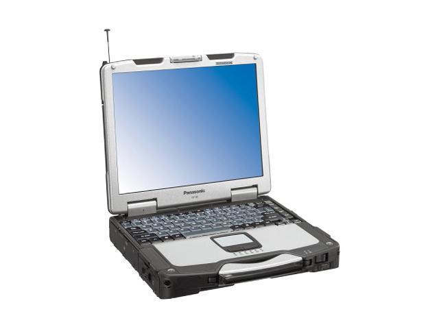 Panasonic Laptop Toughbook CF-30CWQAZBM Intel Core Duo L2400 (1.66 GHz) 512 MB Memory 80 GB HDD Intel GMA950 13.3