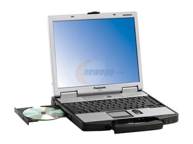 "Panasonic Laptop Toughbook CF-74ECBADBM Intel Core Duo T2500 (2.00 GHz) 512 MB Memory 80 GB HDD Intel GMA950 13.3"" Touchscreen ..."