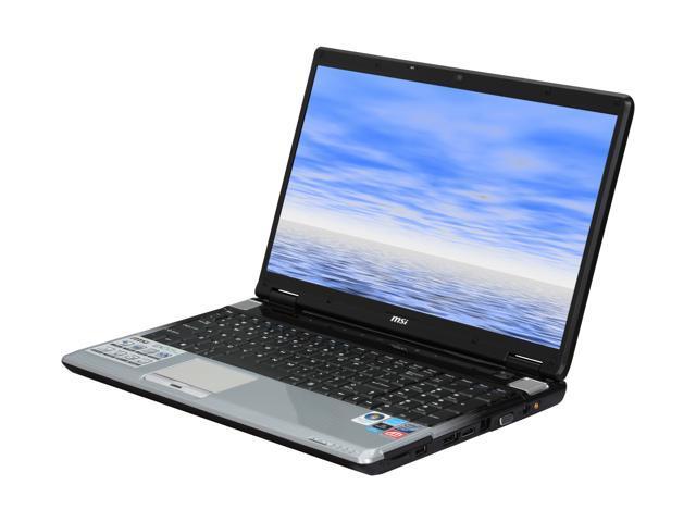MSI Laptop EX625-227US Intel Core 2 Duo P7350 (2.00 GHz) 4 GB Memory 320 GB HDD ATI Mobility Radeon HD 4670 16.0