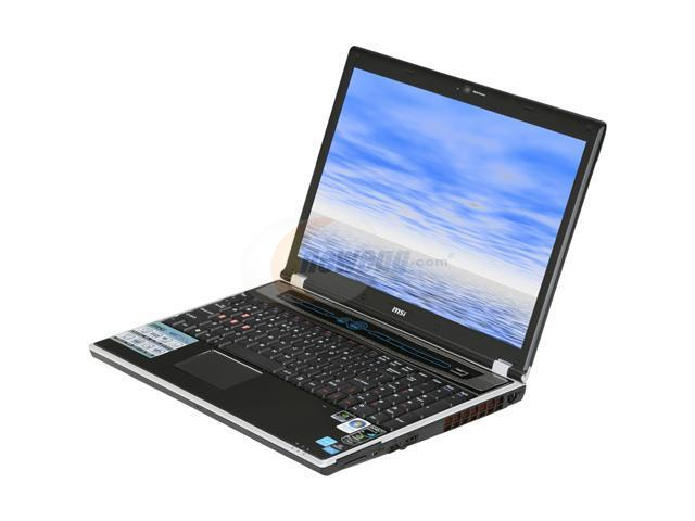 MSI Laptop GX630-001US AMD Athlon X2 QL-62 (2.00 GHz) 4 GB Memory 320 GB HDD NVIDIA GeForce 9600M GT 15.4