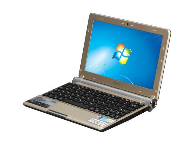 "MSI Wind U160-007US Gold 10.0"" WSVGA Netbook"
