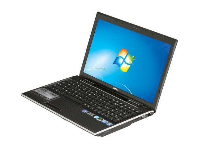 MSI Laptop FX600-002US Intel Core i5 450M (2.40 GHz) 4 GB Memory 500 GB HDD NVIDIA GeForce GT 325M 15.6