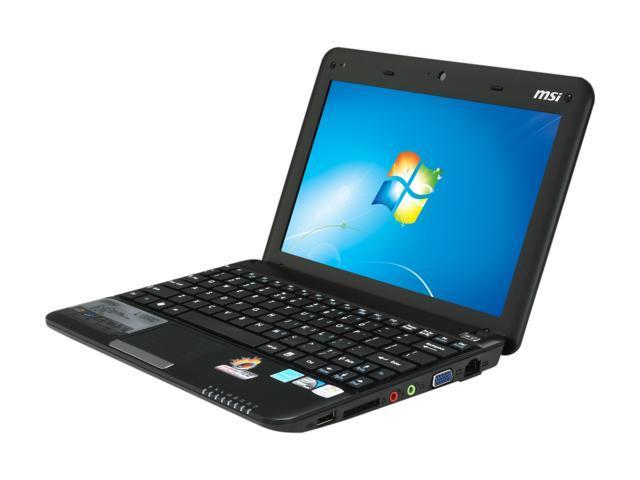 MSI Wind L1350D-1672US Black Intel Atom N455(1.66 GHz) 10.0