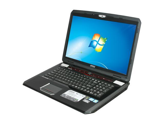 MSI Laptop GT780R-012US Intel Core i7 2630QM (2.00 GHz) 16 GB Memory 1 TB HDD NVIDIA GeForce GTX 560M 17.3