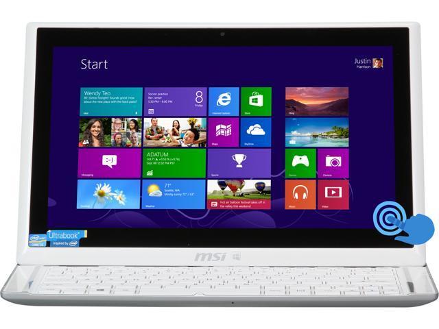 "MSI S Series S20 0M-048US Intel Core i5 8 GB Memory 128 GB SSD 11.6"" Touchscreen Ultrabook Windows 8"