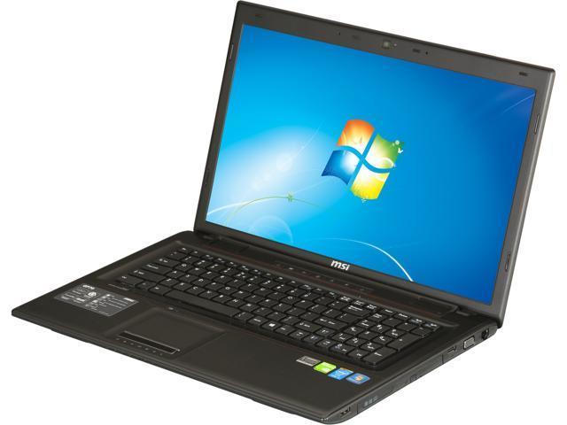 """MSI Laptop GP Series GP70 2OD-027US Intel Core i5 4200M (2.50 GHz) 8 GB Memory 1 TB HDD NVIDIA GeForce GT 740M 17.3"""" Windows ..."""
