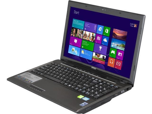 "MSI Laptop CX61 0NF-686MX Intel Core i7 3630QM (2.40 GHz) 6 GB Memory 750 GB HDD NVIDIA GeForce GT 645M 15.6"" Windows 8"