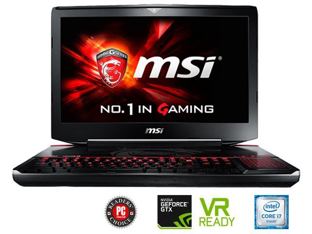MSI GT Series GT80S TITAN SLI-222 Gaming Laptop Intel Core i7 6th Gen 6920HQ (2.90 GHz) 64 GB Memory 1 TB HDD 512 GB SSD NVIDIA GeForce GTX 980 SLI 16 GB GDDR5 18.4