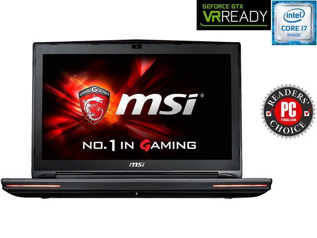 MSI GT Series GT72S DomPro4K-059 Gaming Laptop 6th Generation Intel Core i7 6820HK (2.70 GHz) 16 GB Memory 1 TB HDD 256 GB SSD NVIDIA GeForce GTX 980 8 GB GDDR5 17.3