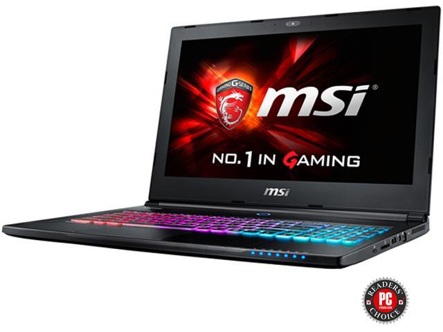 MSI GS Series GS60 Ghost-242 Gaming Laptop Intel Core i7-6700HQ 2.6 GHz 16G Memory 1TB HDD 128G SSD GTX 965M 2 GB 15.6