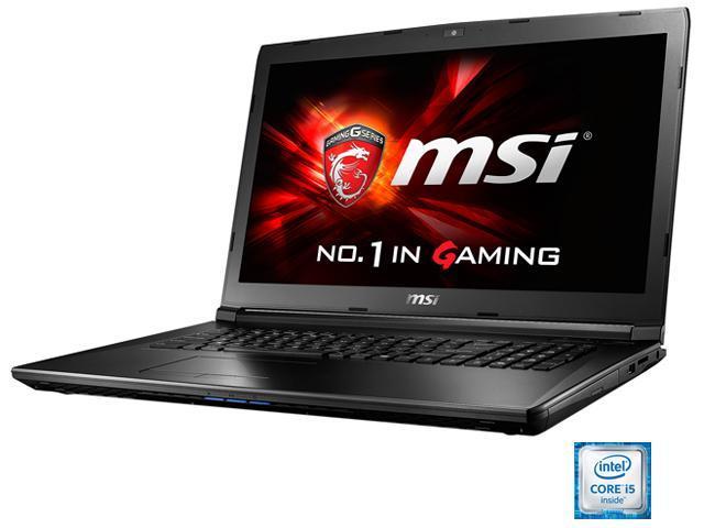 MSI GL72 6QD-001 Gaming Laptop Intel Core i5 6300HQ (2.30 GHz) 8 GB Memory 1 TB HDD NVIDIA GeForce GTX 950M 2 GB GDDR3 17.3