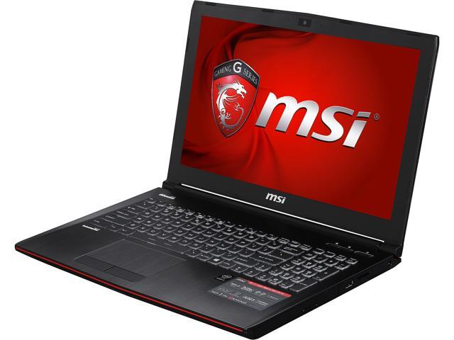 MSI GE Series GE62-2QD-453US Gaming Laptop Intel Core i7 5th Gen 5700HQ (2.70 GHz) 8 GB Memory 1 TB HDD NVIDIA GeForce GTX 960M 2 GB GDDR5 15.6