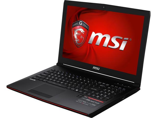 MSI GP Series GP62-2QE-038US Gaming Laptop Intel Core i7 5700HQ (2.70 GHz) 8 GB Memory 1 TB HDD NVIDIA GeForce GTX 950M 2 GB GDDR3 15.6