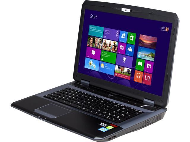 """CyberpowerPC Fang III X7-100 Gaming Laptop Intel Core i7-3630QM 2.4 GHz 17.3"""" Windows 8 64-Bit"""
