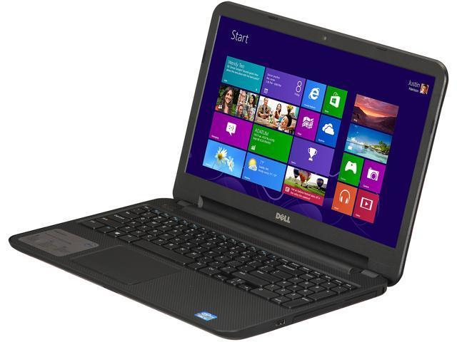 DELL Laptop Inspiron 15 (i15RV-7381BLK) Intel Core i3 3227U (1.90 GHz) 4 GB Memory 500 GB HDD Intel HD Graphics 4000 15.6