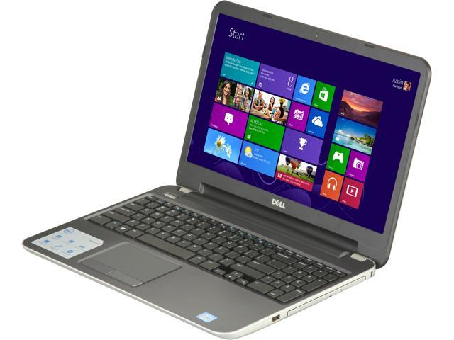 DELL Laptop Inspiron i15RM-5098sLV Intel Core i5 3337U (1.80 GHz) 8 GB Memory 1 TB HDD Intel HD Graphics 4000 15.6