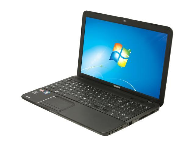 TOSHIBA Laptop Satellite C855D-S5230 AMD Dual-Core Processor E1-1200 (1.4 GHz) 4 GB Memory 320 GB HDD AMD Radeon HD 7310 ...