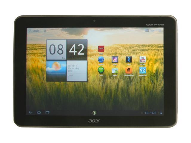 Acer Iconia Tab A200-10g08u NVIDIA Tegra 2 1 GB Memory 8GB EMMC 10.1