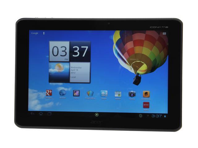 Acer Iconia Tab A510-10k32u NVIDIA Tegra 3 1GB DDR2 Memory 32GB internal storage 10.1